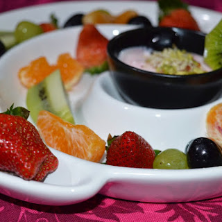 Fruit Platter with creamy dip