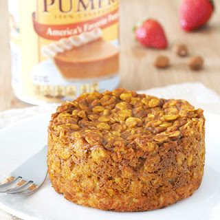 Pumpkin Pie Baked Oatmeal.