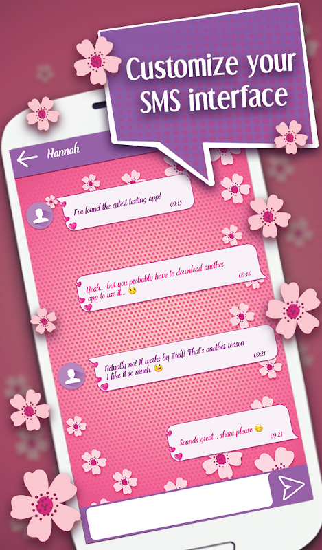 SMS Wallpaper Background for Texting screenshots