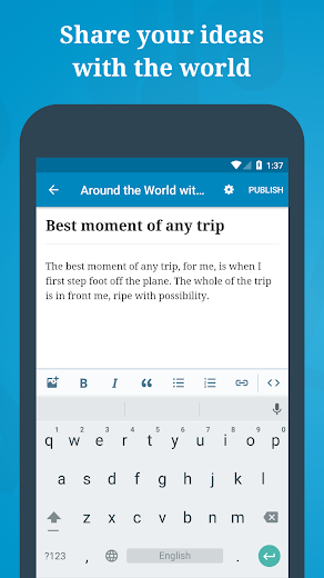 Screenshot 1 for WordPress's Android app'