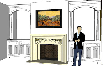 Photo: family room, Francois & Co. Pugin mantel, no plinths. This is the closest to the final