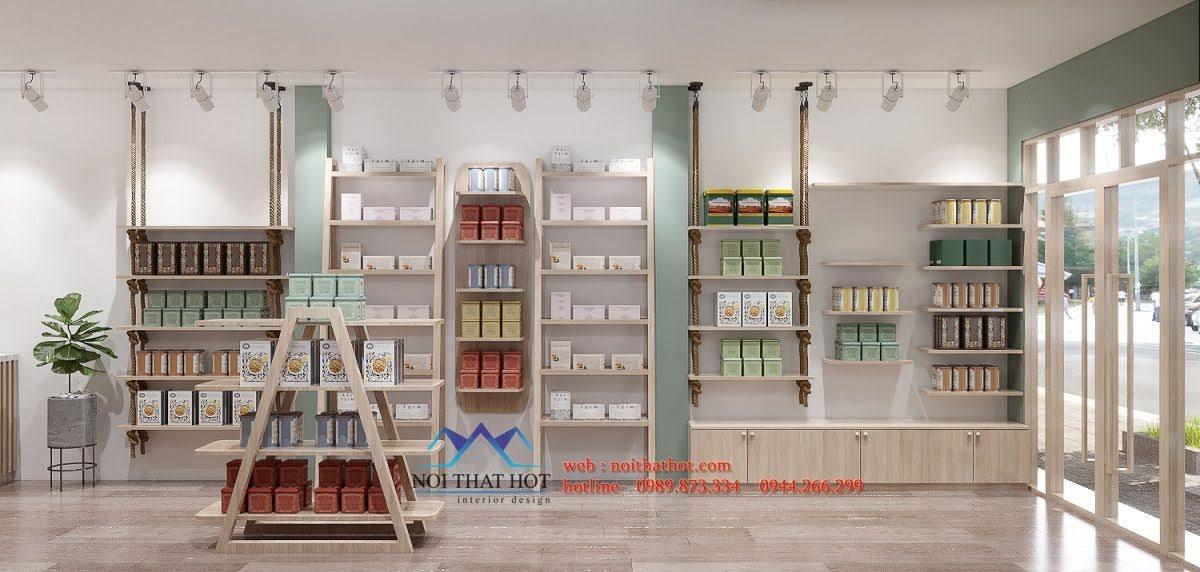 thiết kế cửa hàng bán nấm ăn