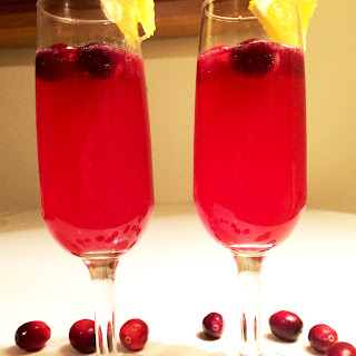 Mulled Cranberry-Orange Non-Alcoholic Fizz