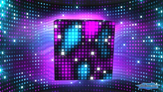 Bright Sparkling Pixel Cube 3D - náhled