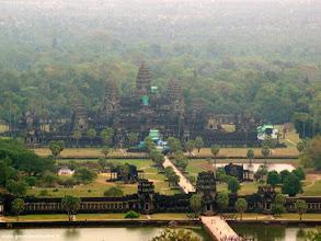 Photo: #015-Survol du site d'Angkor en ballon captif. Site classé au Patrimoine mondial de l'Unesco.