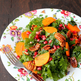Kale, Persimmon, and Pecan Salad