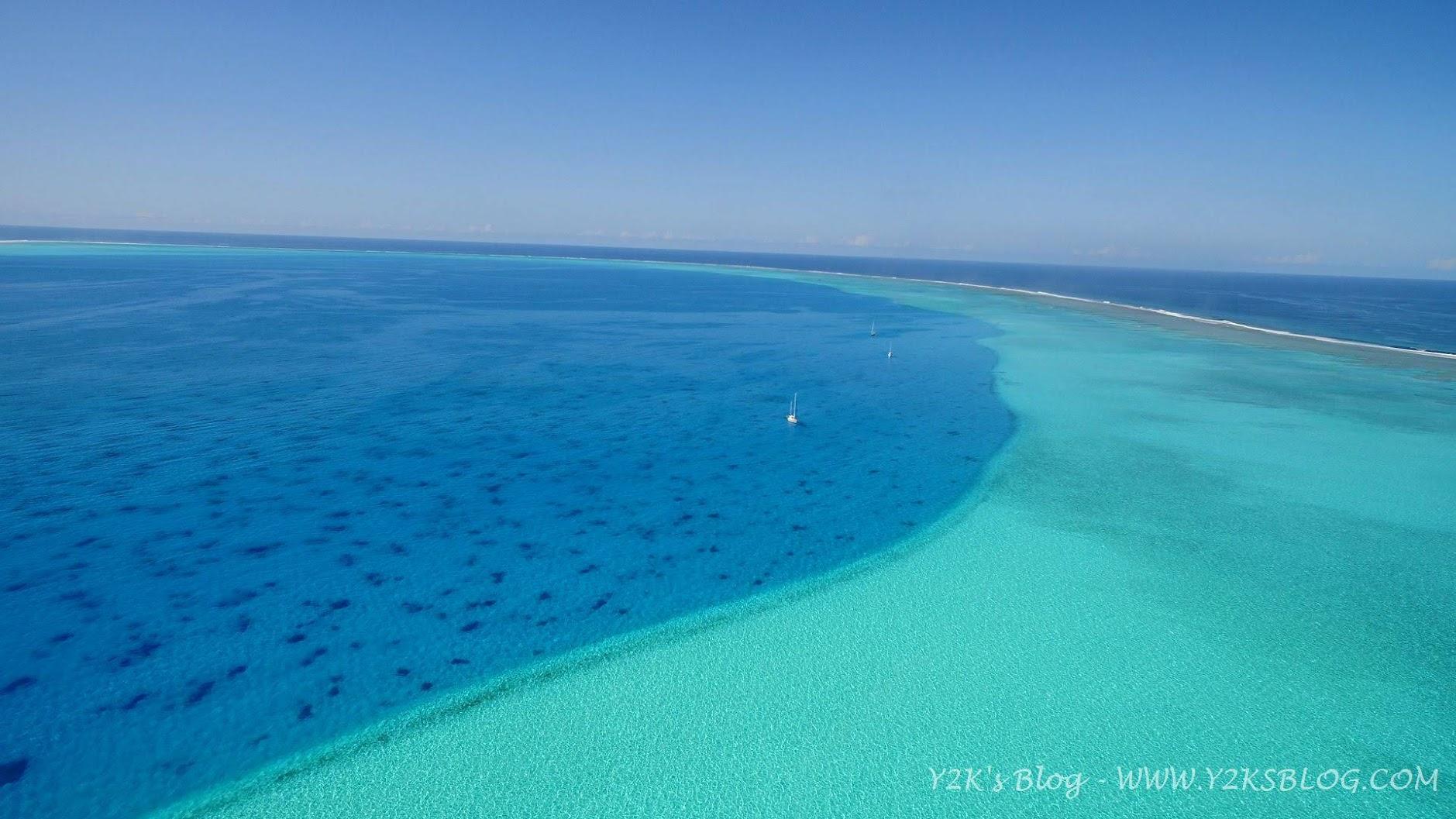 """Dal drone: le tre barche """"Freya"""", """"Y2K"""", """"Cinnabar"""" - Beveridge Reef"""