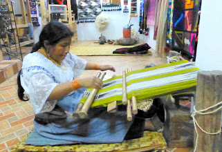 Photo: She demonstrates the back loom