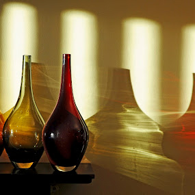 Jar Light. by Jim Moran - Abstract Light Painting ( colour, window, light, light., jars )