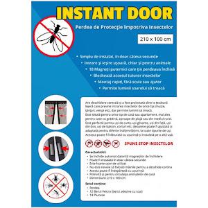 Perdea magnetica anti insecte 210 x 90 cm. Model fluturi Instant Door