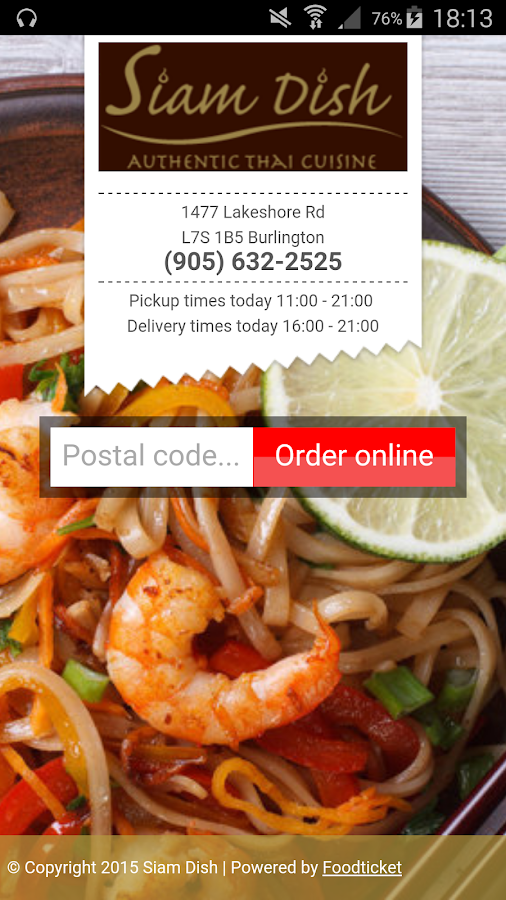 Siam Dish- screenshot