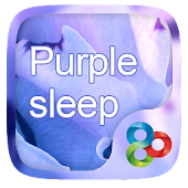 Purple Sleep GO Launcher Theme