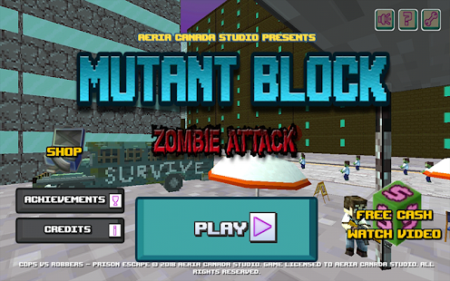 Mutant Block Zombie Attack Screenshot