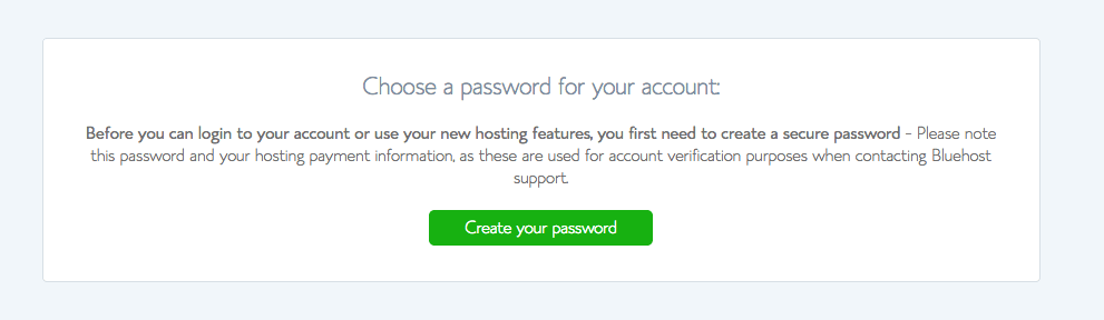 How To Start A Blog On BlueHost? Choose A Password Fro Your Account!