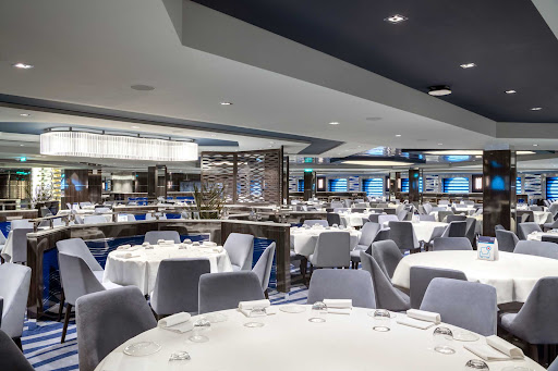 blue-danube-dining.jpg - Blue Danube, one of the complimentary restaurants on MSC Virtuosa, seats 598 guests.