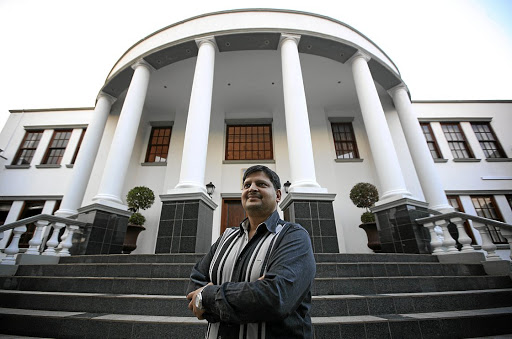 Atul Gupta at the family compound in Saxonwold. Picture: KEVIN SUTHERLAND