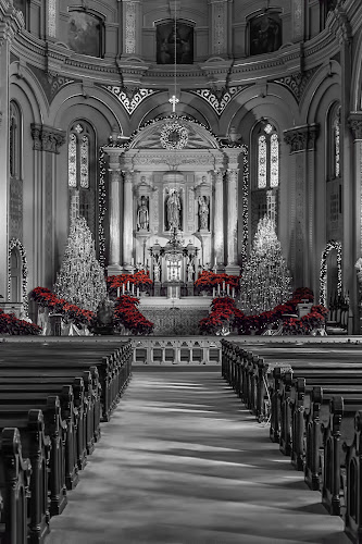 St. Mary's  by Tammy Scott - Buildings & Architecture Places of Worship ( church, black and white, historical, architecture, worship, historic )