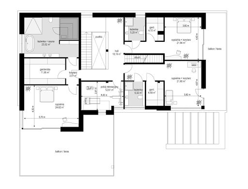 Willa Floryda 4 - Rzut piętra