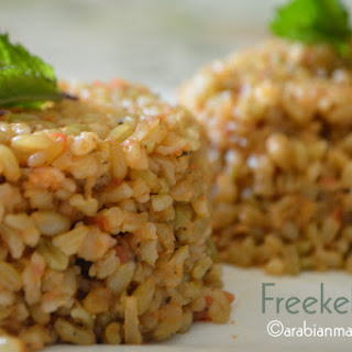 Middle Eastern Freekeh pilaf