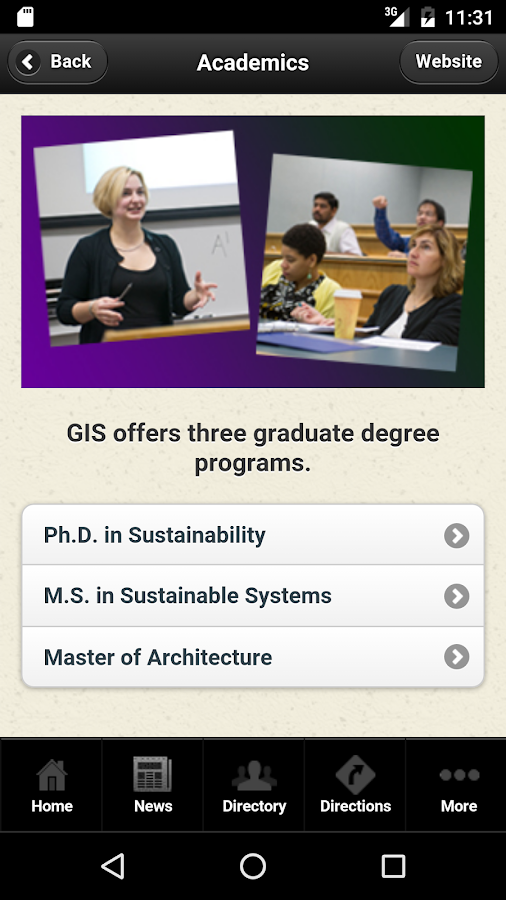 RIT GIS Mobile- screenshot
