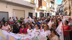 Manifestación este sábado en Vélez-Rubio en una imagen compartida por Francisca Iglesias.