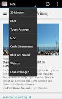 Screenshot of Zeitungen Schweiz