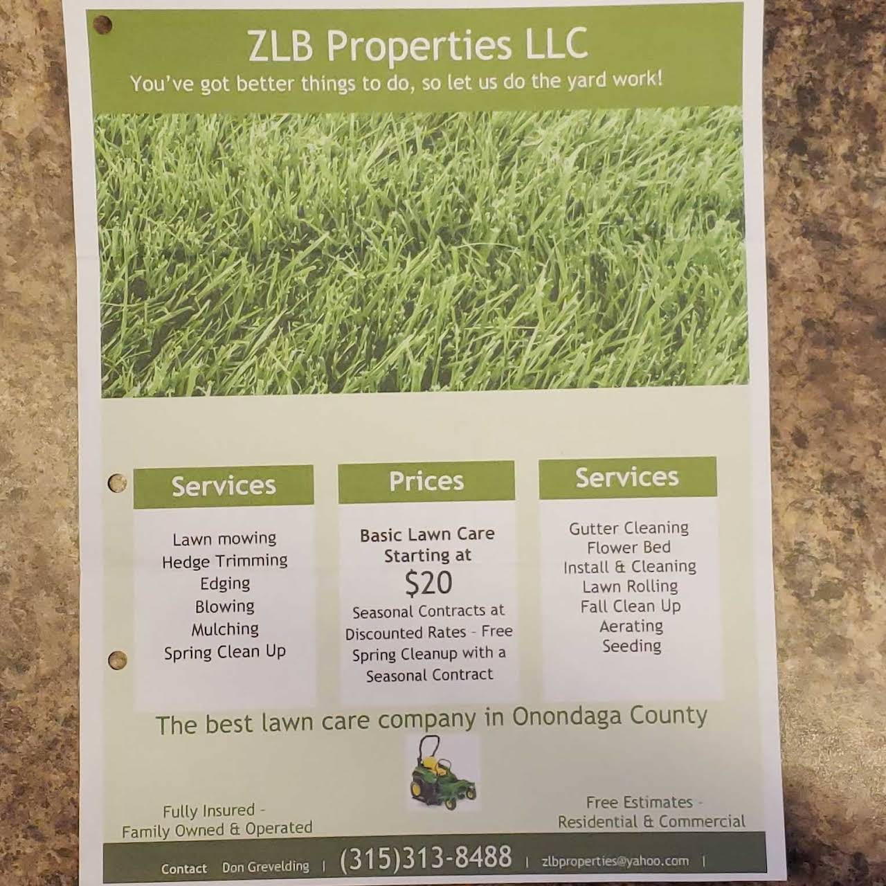 ZLB Properties LLC - Landscaper in East Syracuse