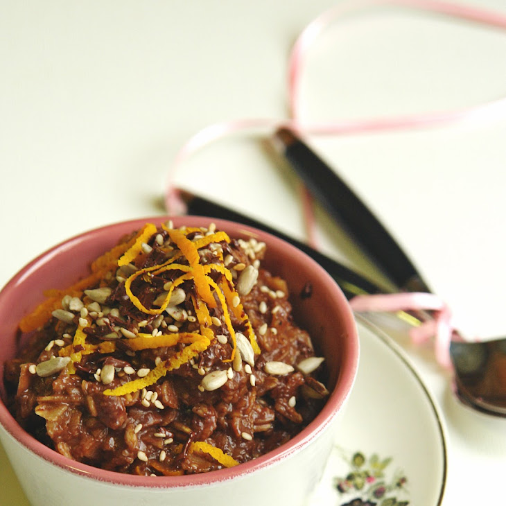Chocolate and Orange Oatmeal