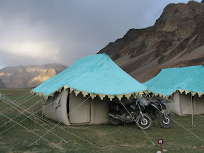Photo: Our tent in Sarchu