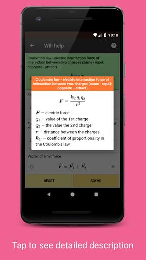 Betaphysics u2014 physics solver and formulas helper android2mod screenshots 7