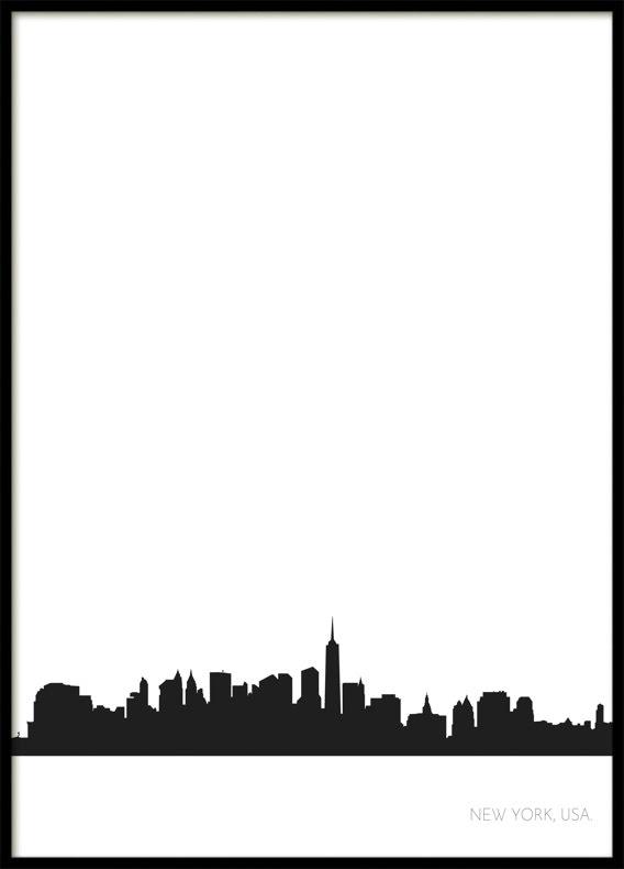 New York Stadssiluett, Poster