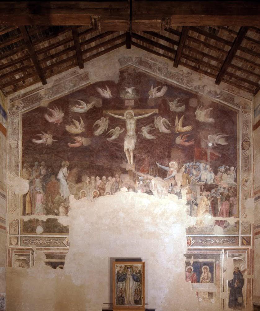 Andrea Orcagna, Crocifissione e ultima cena, Fondazione Salvatore Romano, Santo Spirito (1365)