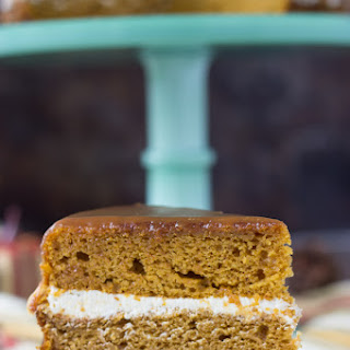 Naked Pumpkin Cake with Caramel Buttercream