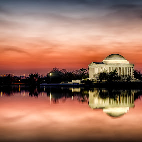 American Sunrise by Kevin Miller - City,  Street & Park  Historic Districts