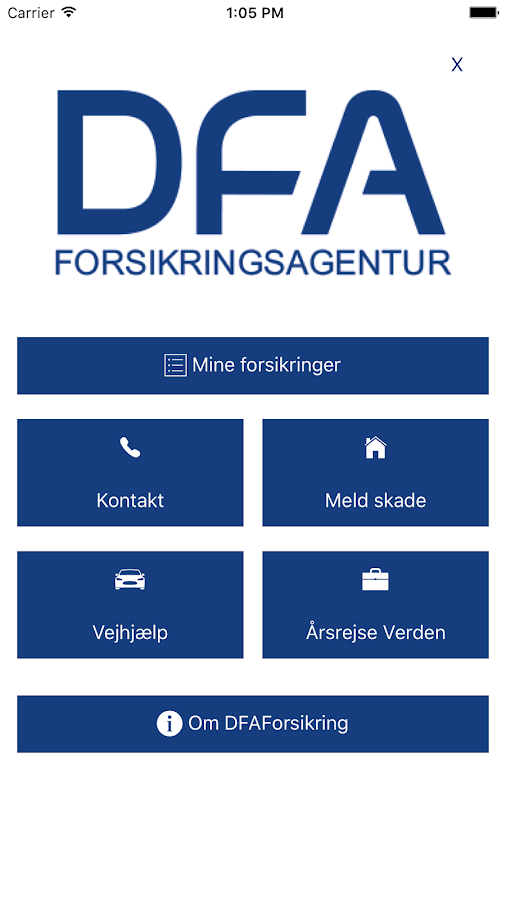 DFAForsikring- screenshot