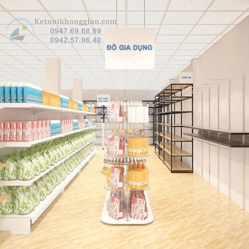 thiết kế siêu thị mini sinh động, ấn tượng trẻ trung
