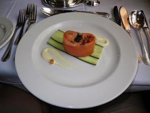 Photo: Salmon tatare with smoked salmon wrap