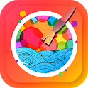 Paint by number - color book easy for kids icon