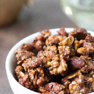 Vegan Flax Candied Nuts.