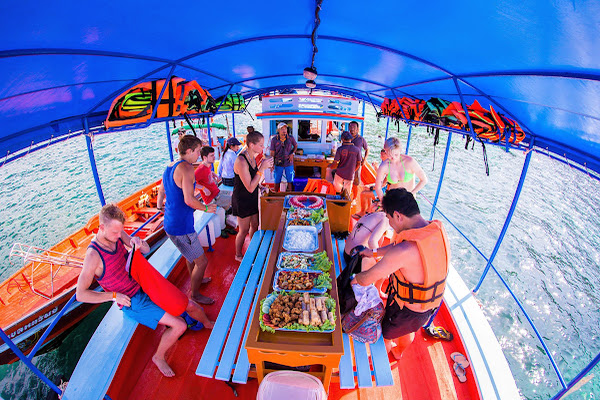 Enjoy a Thai style lunch on board