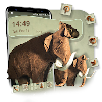 Elephant Paper Craft Launcher Theme