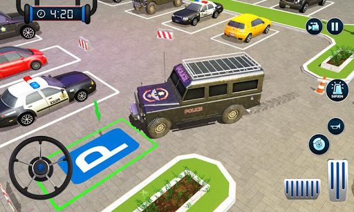 Police Car Parking: Police Jeep Driving Games screenshots 7