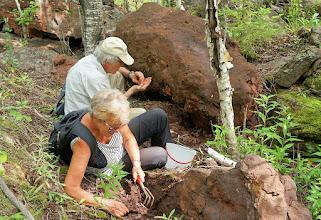 Photo: Frank & Roxy are avid fossil hunters.