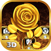 Imperial Gold Flower 3D Theme