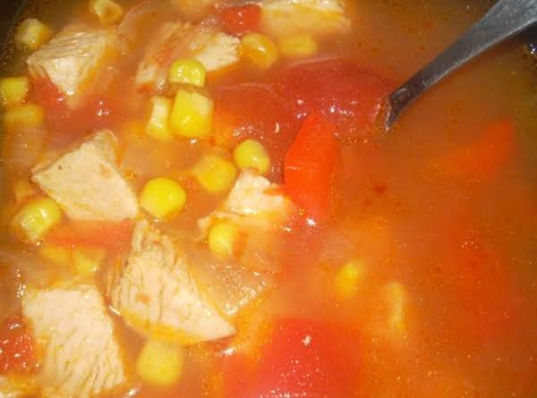 Oz's Sante Fe Roasted Turkey Soup