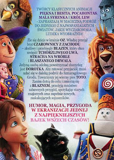 Tył ulotki filmu 'Czarnoksiężnik Z Oz: Powrót Dorotki'