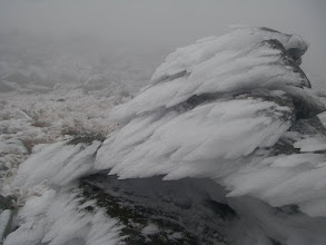 Photo: The rime on the rocks was 6-8 inches thick.