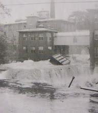 Photo: Water raged through the Gilbert Clock Company in Winsted.