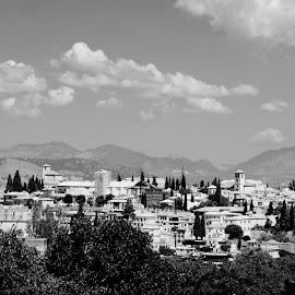 Granada's Landscape by Joatan Berbel - Black & White Landscapes ( spain, granada, city, andalucia, cityscapes, black and white )