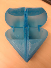 Photo: Stressful150% Secret Heart Box (http://www.thingiverse.com/thing:44579 ). The (58mm!) spans sagged a little, but had the slicer made better choices even that might have been avoidable. All the joints went with only a little force.